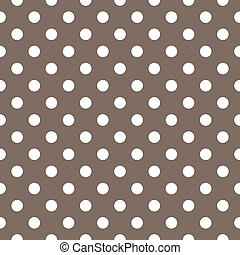 Seamless dots vector brown pattern