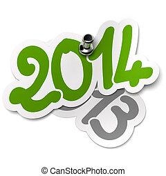 2014 Versus 2013 Years. Stickers - comparison between 2014...