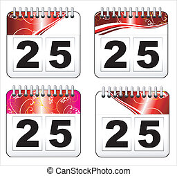 Christmas day calendar icon - Red Christmas day calendar...