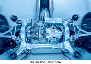 Car frame - The car's  frame closeup