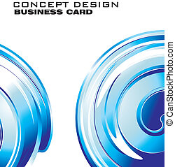 Abstract Spiral Business Card