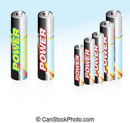 Battery Icons - High detailed Battery glossy style icons
