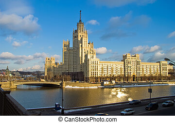 Russian skyscraper - Kotelnicheskaya Embankment Building is...