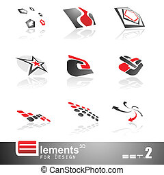 Abstract 3D Elements - Set 2