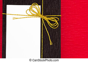 Gift with a card