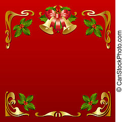 Secession frame - Christmas vintage frame in secession style