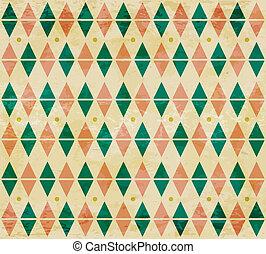 Seamless aged diamond pattern