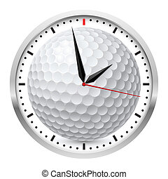 Sports Wall Clock - Wall clock. Golf style. Illustration on...