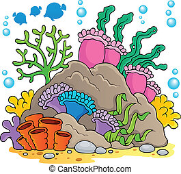 Coral reef theme image 1 - vector illustration.
