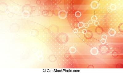 red shiny circles loop