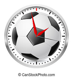 Sports Wall Clock - Wall clock Football style Illustration...