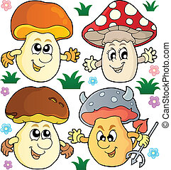 Mushroom theme collection 2 - vector illustration