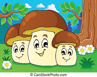 Mushroom theme image 8 - vector illustration