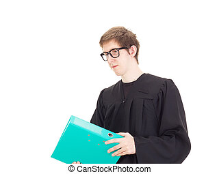 Lawyer with ring binder