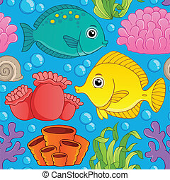 Seamless background sea theme 1