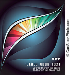 Abstract Business Card backgrounds for flyers - Colorful...