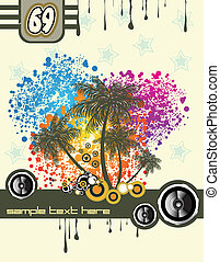 Tropical Music Disco Flyer - Music and Dance tropical Disco...