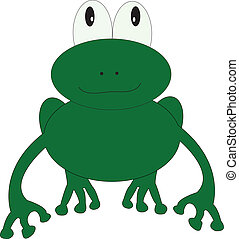 Green Frog - This is a cartoon green frog