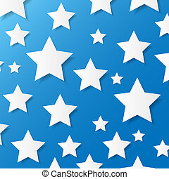 Paper stars Vector illustration