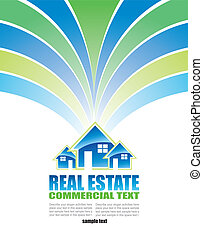 Real Estate Background for Brochure of flyers - Abstract...
