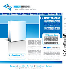Web Site Elegant Template - Light Blue Web Site Elegant...