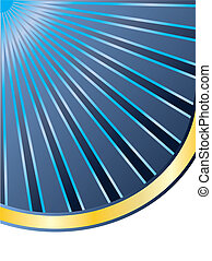 Blue rays heading for gold background design
