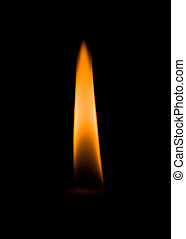 Flame burning on a candle