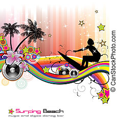 Tropical Music Event Flyer - Dance and Music tropical Event...