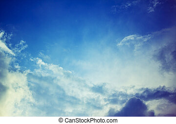 heavenly bright blue sky with sun rays - bright blue sky and...