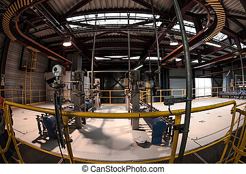 Industrial Building Interior Fisheye Photo