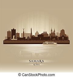 Samara Russia skyline city silhouette Vector illustration
