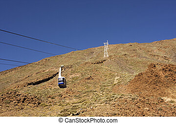 cable car climb - cable car on a mountain