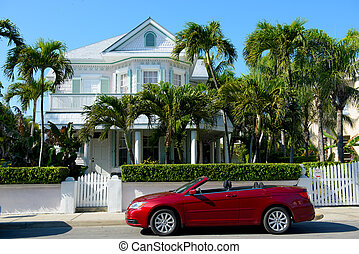 House at Key West - White residential house in Key West,...