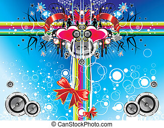 music emotions christmas background - Christmas and music...