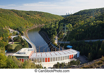 Hydroelectric power plant - Hydro power plant below the dam