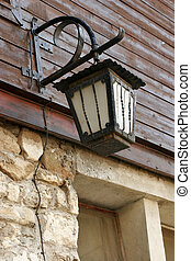 old forged antern in Old Nessebar. Vintage - old forged...