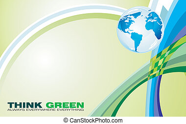 Think Green Background