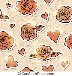 seamless pattern of roses, vector eps 10