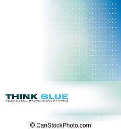 Business Card - Delicate Blue and Green business card...