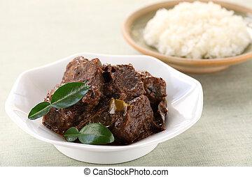 rendang beef - indonesian cuisine