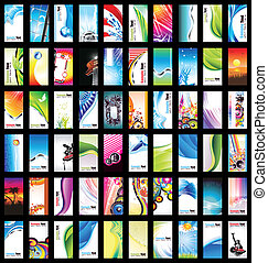 Business Card Big Collection - Mega Collection of Abstract...