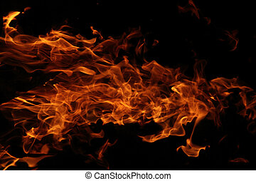 fire background in the night (on the black background)