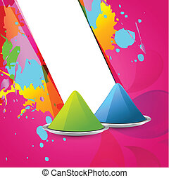 holi gulal - holi festival gulal colors vector background