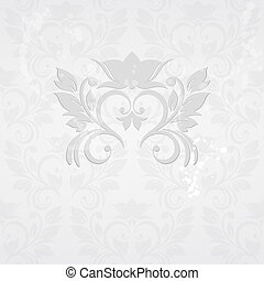 Invitation card with abstract floral background. Elegance...