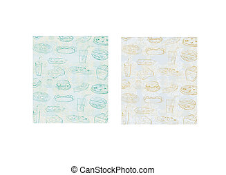 doodle fast food seamless background