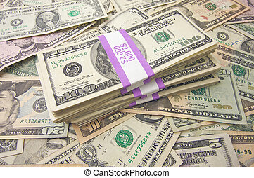 Stack of Money - Stacks of Unites States Money Background -...