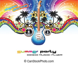 Tropical Music Event Flyer - Disco Dance Corful Tropical...