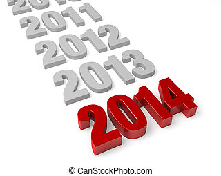 2014 Is Here! - 2014 in shiny Red Letters followed by the...