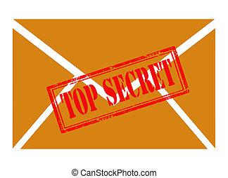 envelope with top secret stamp
