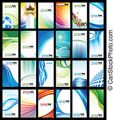 Colorful Business Card Collection - Abstract Business Card...